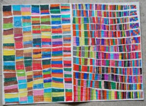Multiples of Coloured Squares by John Bishop