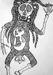 Death of the Ecstacy Dancer with Negative Foetus Inside by JOHN POLSON