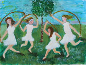Girls Dancing Around the Tree of Hope by Josie