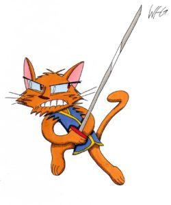 Cat Katana by William Hanekom