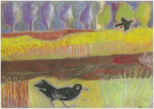 Blackbirds Up In Wurzel Field by Kathleen Mattsson