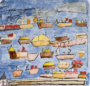 Cornwall Boats by Kathy Stewart