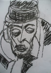 Man with hat by Keith Davies