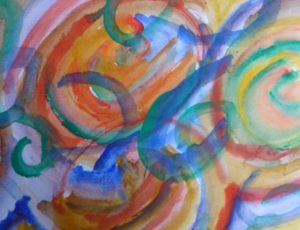 Abstract with watercolours by Keith Davies