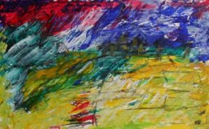 landscape with corn by Keith Davies