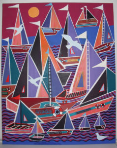 Sail Boats by Kenny Wilkie