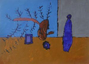 kevin_hogan_still_life_with_blue_bottle_1 by Kevin Hogan