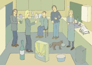 Kitchen Conversation by David Beales