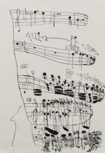 Musical Score 1 by Koji Nishioka