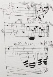 Musical Score 7 by Koji Nishioka