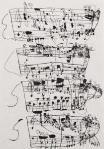 Musical Score 9 by Koji Nishioka