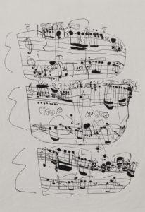 Musical Score 16 by Koji Nishioka
