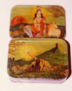 Painted tobacco tin by iegor