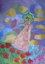 Lady with Parasol (after Monet) by Jacqueline Burton