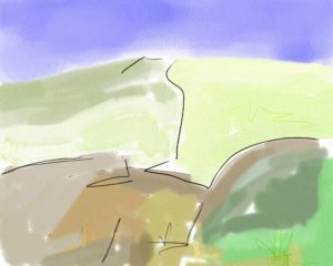 Landscape 4 by Watercolour sketch 2