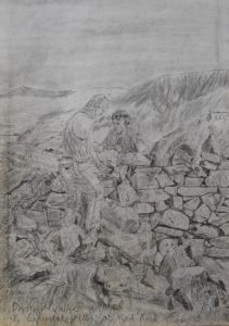 Drystone Wallers in the Ennerdale Fells at Red Buck Close by Lee  Story