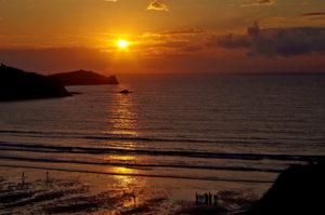 Across a Cornish bay by LouiseTopp