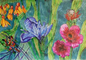 Bright Flowers by Liz Innes