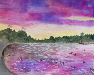 Serpentine at Sunset by Liz Innes