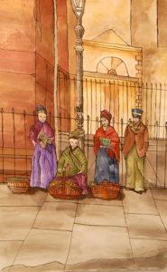 Victorian Flower Girls by Liz Innes