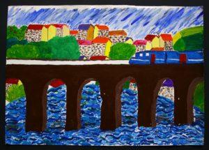 the Bridge de Pont Gar by Elizabeth Wingate