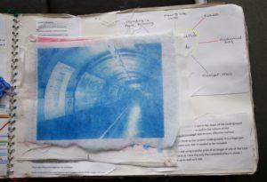 Transfer print Underground by Elizabeth Wingate