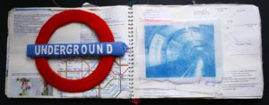Underground sketchbook pages by Elizabeth Wingate
