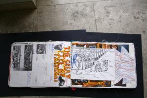 Fire of London sketchbook pages by Elizabeth Wingate