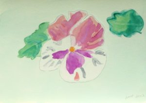 Lone Pansy by Ali