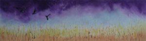 Crows over cornfield by Lynda Jones