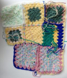 Crochet squares group 1 by Lynette Buchan
