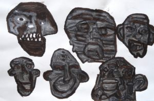 Faces and Skulls by Mary Bevlock