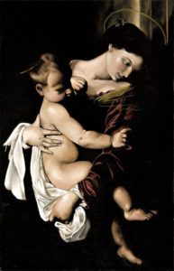 Madonna and Child (after Caravaggio) 2007 by Natalie Papamichael
