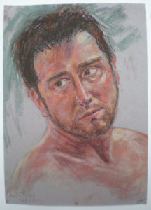 Portrait of young man by Moira Taylor