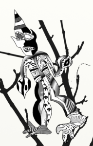 Man in a tree by Otto Magus