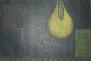 Lightbulb & Chairs 11 by Mari Kidd