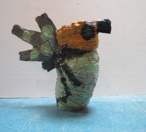 Green Bird Jug by Maria Wicko