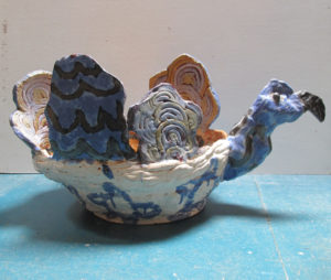 Blue Swan Bowl by Maria Wicko