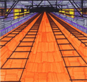 marklloyd-New Street Station 1990 by Artist Mark Lloyd