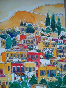 Mediterranean Hillside by Macktee