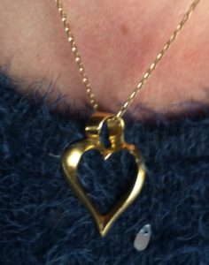 The Twisted Heart Pendant by Ap Rhys Designs