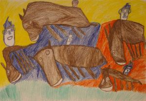 Men on horses by Tommy Mason