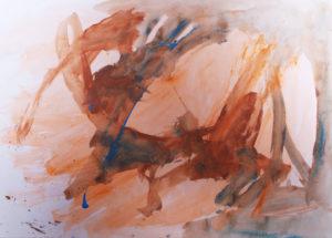 Brown/Blue Study by David Ward