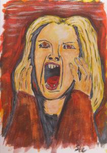 Screaming Woman by Stephen Harrison