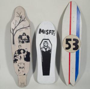 skateboards by Michael Flood