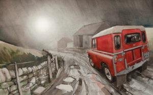 Misty Evening by John Lowerson