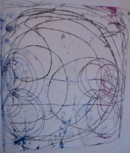 Monoprint 2 by Alan Critchett