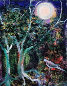 Moon Bird by Portrait in Newspaper