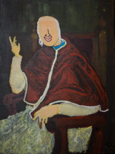 Mortimer as Pope Pius V. After Passaroti. by Colin Cameron