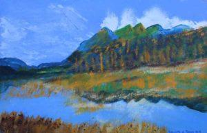 Mountainous Reflections by Bernard Parker